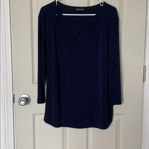 Dark blue shirt for work